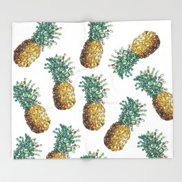 Pineapple by gems Throw Blanket