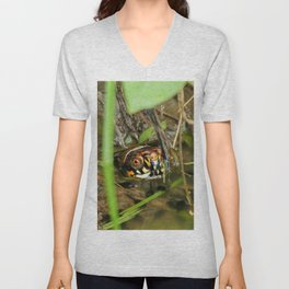Box Turtle and Tadpoles Unisex V-Neck