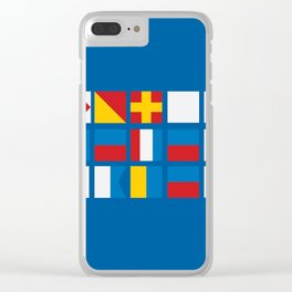 NAUTICAL FOR PETE'S SAKE Clear iPhone Case