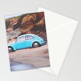 Vintage Blue Beetle Stationery Cards