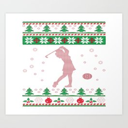 GOLF CHRISTMAS Art Print
