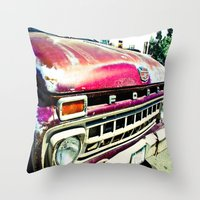 ford Throw Pillows featuring Ford Tough by Kim Ramage