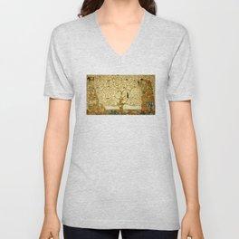 Gustav Klimt The Tree Of Life Unisex V-Neck