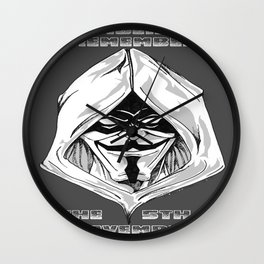 Fawkes Wall Clock