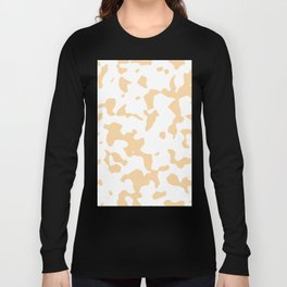Large Spots - White and Sunset Orange Long Sleeve T-shirt