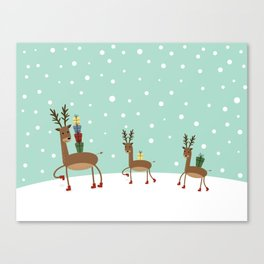 Christmas gifts from the reindeer #society6 #homedecor Canvas Print