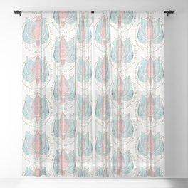 Yoga Lotus Sheer Curtain