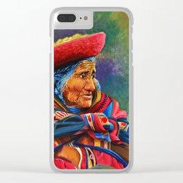Las marcas del Cuzco Clear iPhone Case