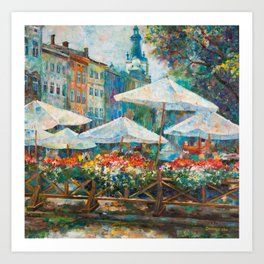 Lviv city center Art Print