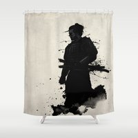 samurai Shower Curtains featuring Samurai by Nicklas Gustafsson