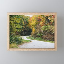 Winding Mountain Roads Through the Mountains in the Fall Framed Mini Art Print