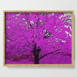 TREES PINK ABSTRACT Serving Tray
