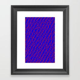 Blue/Red Framed Art Print