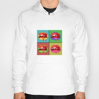 lips Hoodies featuring lips  by mark ashkenazi