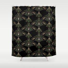 "Art Deco ""Emeralds "" Shower Curtain"