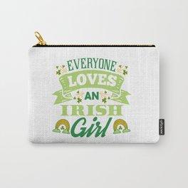 Cute St Patricks Day Irish Ireland Women Girl Gift Carry-All Pouch