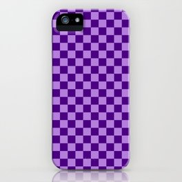 Lavender Violet and Indigo Violet Checkerboard iPhone Case