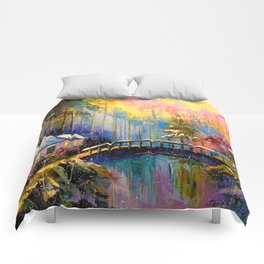 House in the woods Comforters