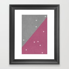 Concrete & Dots Framed Art Print