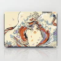 wild iPad Cases featuring The Wave of Love by Huebucket