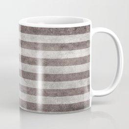USA flag on hand painted canvas texture Coffee Mug