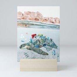 Trash Turtle • Save the Planet Mini Art Print