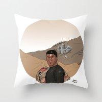 finn Throw Pillows featuring Finn by jorgeink