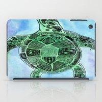 tatoo iPad Cases featuring Tatoo Sea Turtle by PepperDsArt
