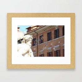 Bernini's Four Rivers Fountain Framed Art Print