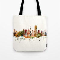 san francisco Tote Bags featuring San Francisco by mark ashkenazi