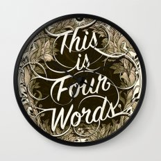 Four Words Wall Clock