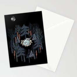fairytale night forest Stationery Cards