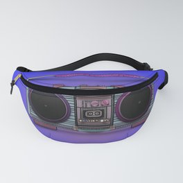 colorful boombox Fanny Pack