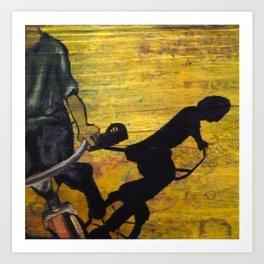 Shadow Tricycle Art Print