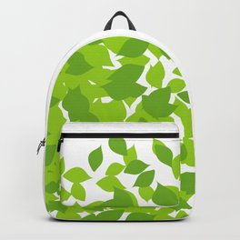 Composition with fresh green spring leaves- earth day gift Backpack