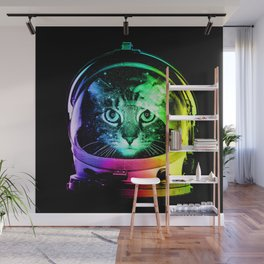 Astronaut Cat Wall Mural