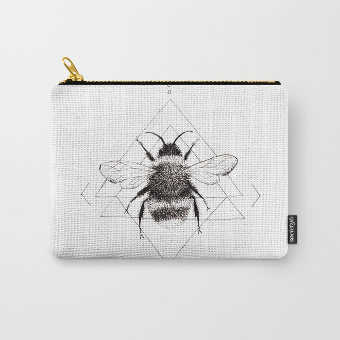 Minimalist Bee in the Garden Carry-All Pouch
