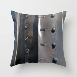 Buttoned, Unbuttoned  Throw Pillow