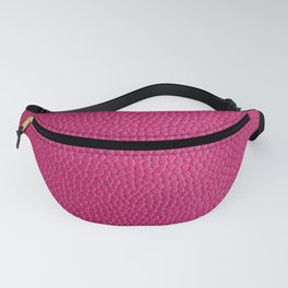 Pink Leather  Fanny Pack