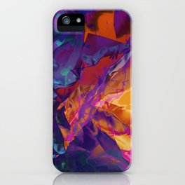 Dragon's Back. Dynamic, Blue, Purple and Orange Abstract. iPhone Case