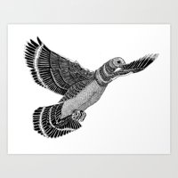 PIGEON-FLYING Art Print