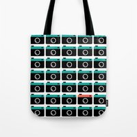 cameras Tote Bags featuring cameras by Sahar