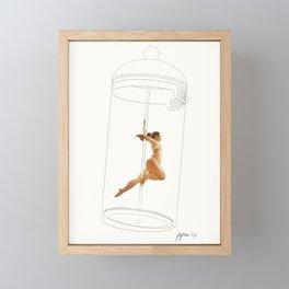 French Press Pole Dancer Framed Mini Art Print
