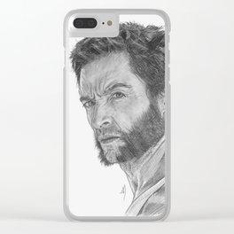 Logan Portrait Clear iPhone Case