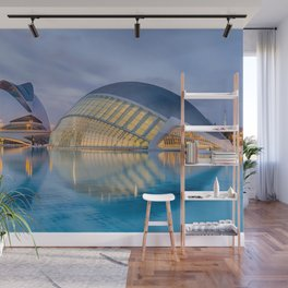 City of Arts and Sciences VIII by CALATRAVA architect Wall Mural