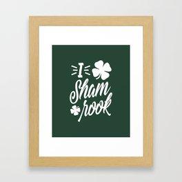 I Love Shamrock Framed Art Print