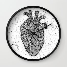 Psychedelic Hearts Wall Clock