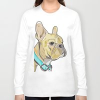 frenchie Long Sleeve T-shirts featuring FRENCHIE by Analy Diego