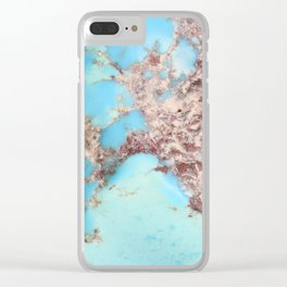 Rugged Turquoise Nugget Clear iPhone Case