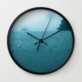 Raining on the ocean Wall Clock